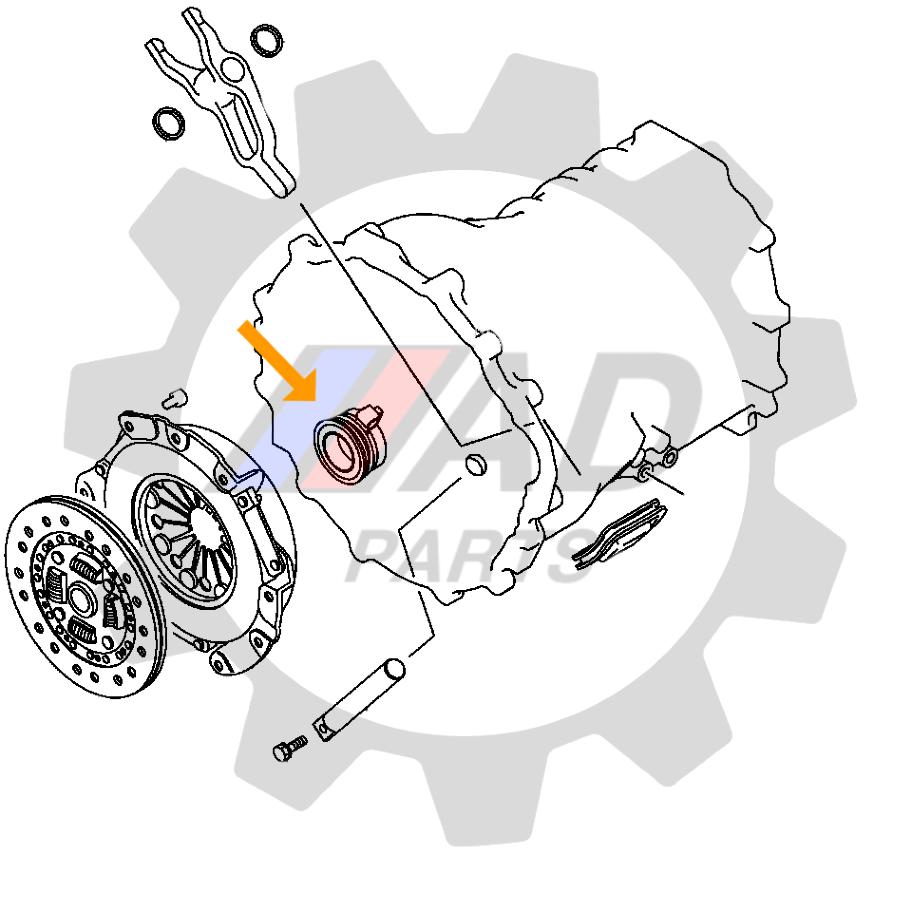 Rolamento de Embreagem Subaru Forester de 2002 até 2007