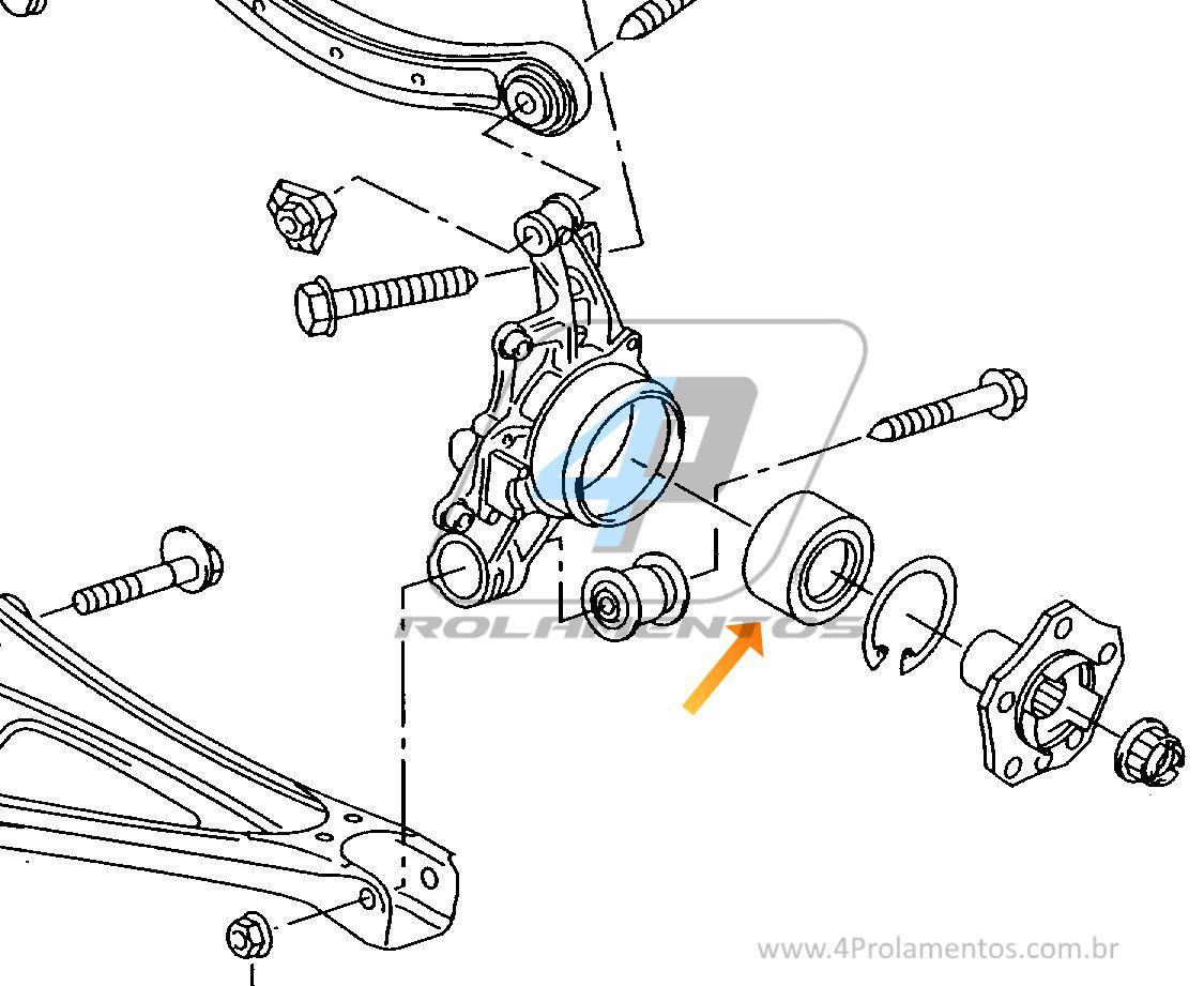 Rolamento de Roda  AUDI Q7 2005-2015