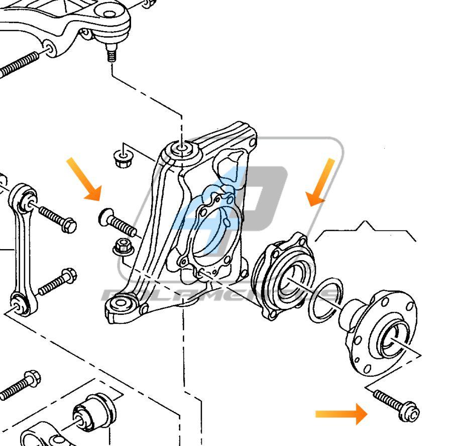 Rolamento de Roda Traseira AUDI R8 2006 até 2015
