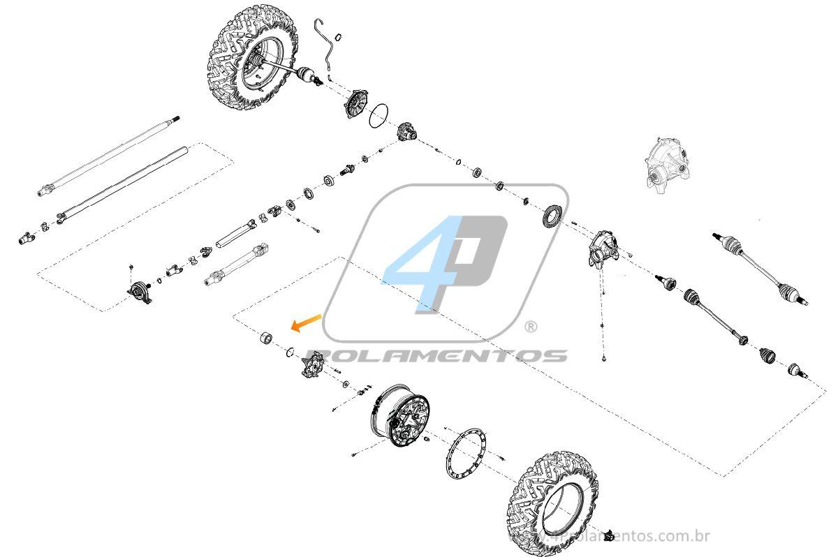 Rolamento de roda CAN AM Renegade 2008 até 2020