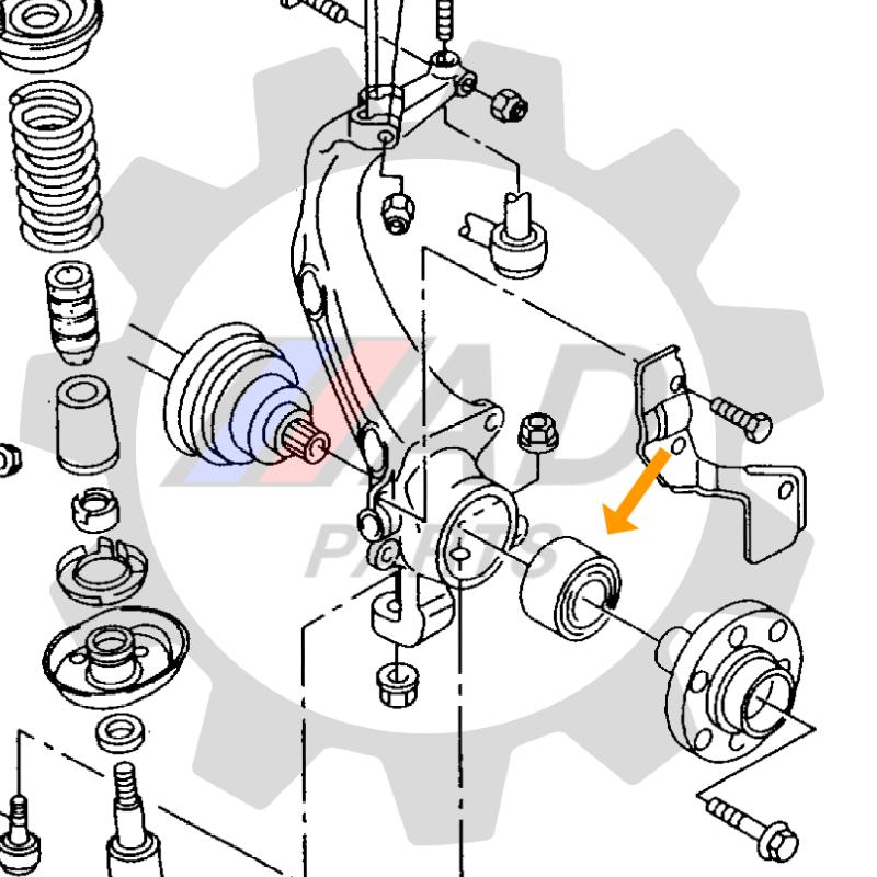 Rolamento de Roda Dianteira AUDI 80 1990 até 1995