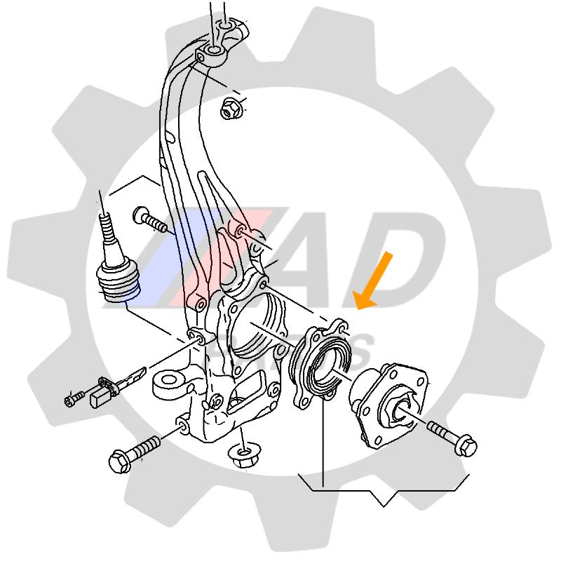 Rolamento de Roda Dianteira AUDI A5 2009 até 2016