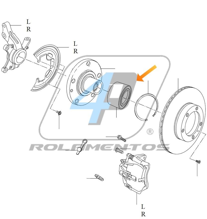 Rolamento de Roda Dianteira Chery S18 2009 até 2013