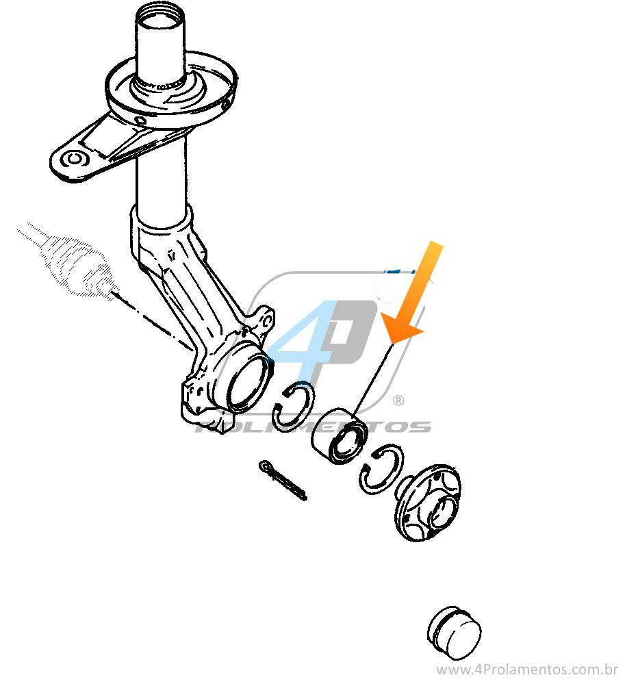 Rolamento de Roda Dianteira CHEVROLET Calibra 1993 até 1997