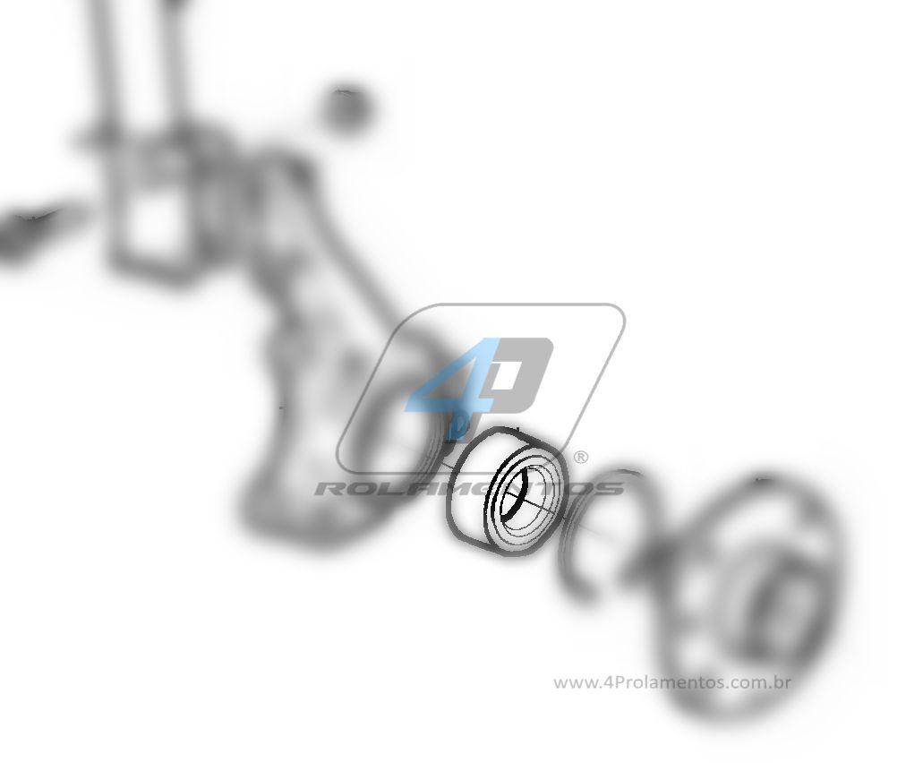 Rolamento de Roda Dianteira CHEVROLET Meriva 2003 até 2012