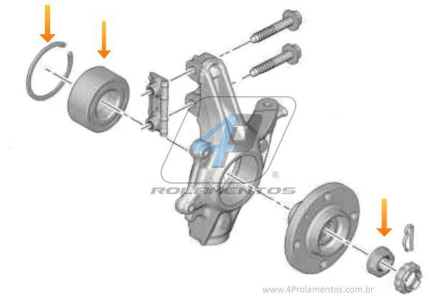 Rolamento de Roda Dianteira CITROEN C4 Grand Picasso 2016 até 2019