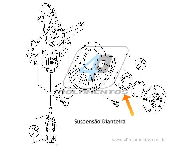 Rolamento de Roda Dianteira e Traseira MERCEDES BENZ ML350 1998 até 2005
