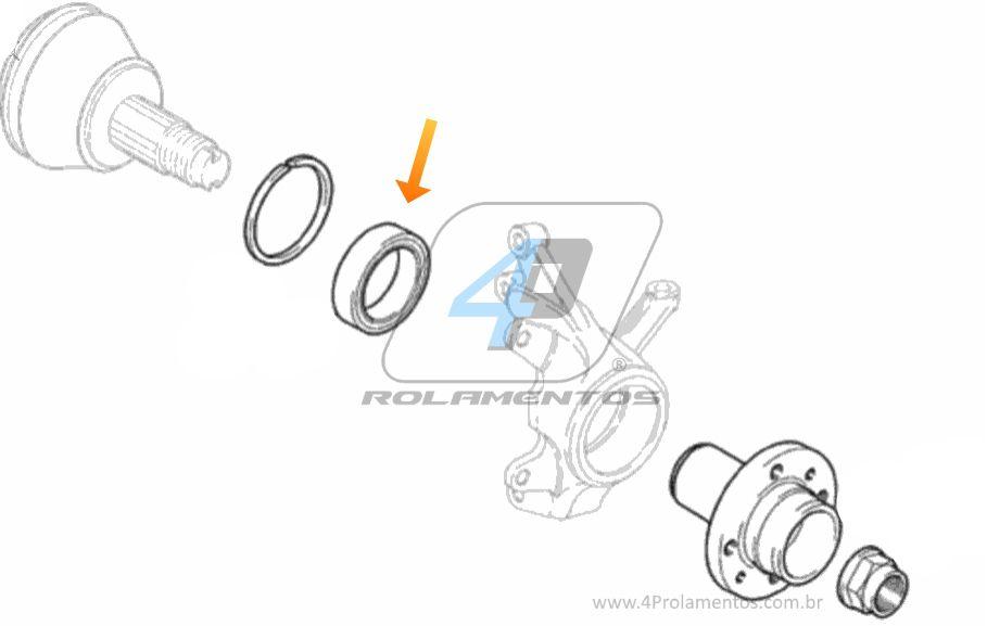 Rolamento roda Dianteira FIAT Bravo 2010 até 2017