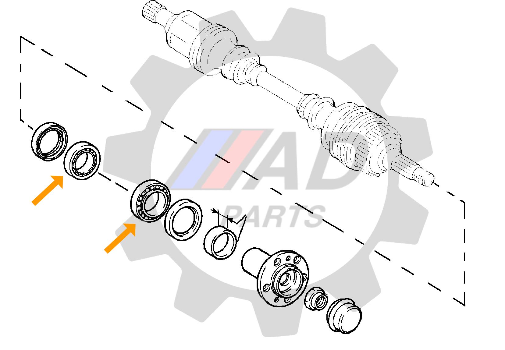 Rolamento de Roda Dianteira FIAT Ducato 1997 até 2002, aro 15