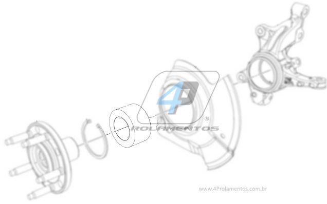 Rolamento de Roda Dianteira FORD Edge 2007 até 2015