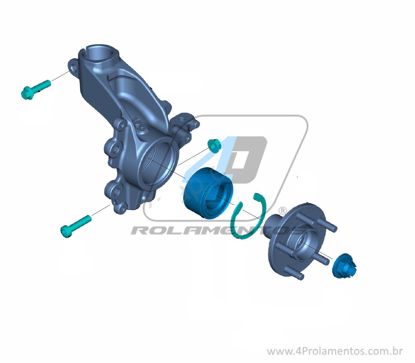 Rolamento de Roda Dianteira FORD Focus 2014 até 2018, com ABS