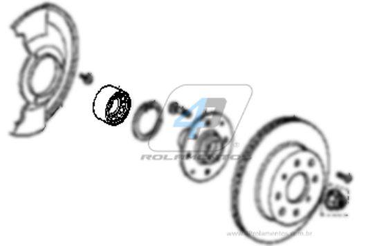 Rolamento de Roda Dianteira HONDA Fit 2009 até 2014 sem ABS