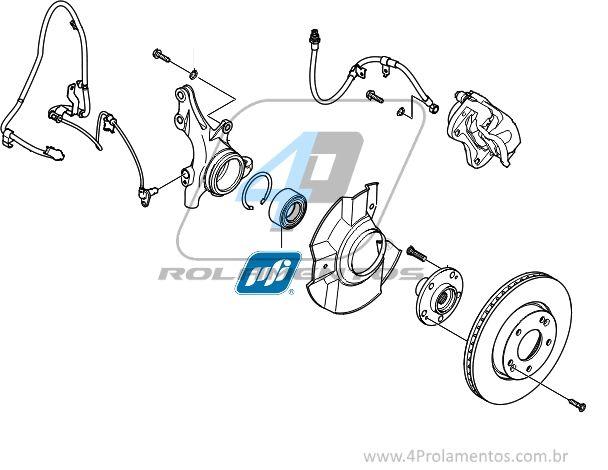 Rolamento de Roda Dianteira HYUNDAI Azera 2012 até 2015
