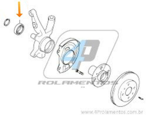 Rolamento de Roda Dianteira HYUNDAI HB20 2012 até 2019