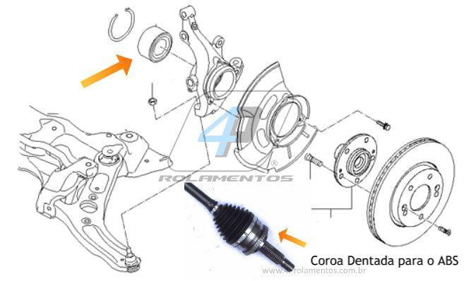 Rolamento de Roda Dianteira HYUNDAI Veloster 2012 até 2015