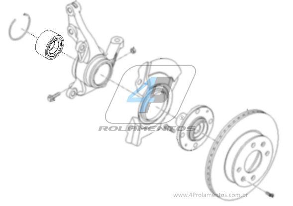 Rolamento de Roda Dianteira KIA New Picanto 2012 até 2017