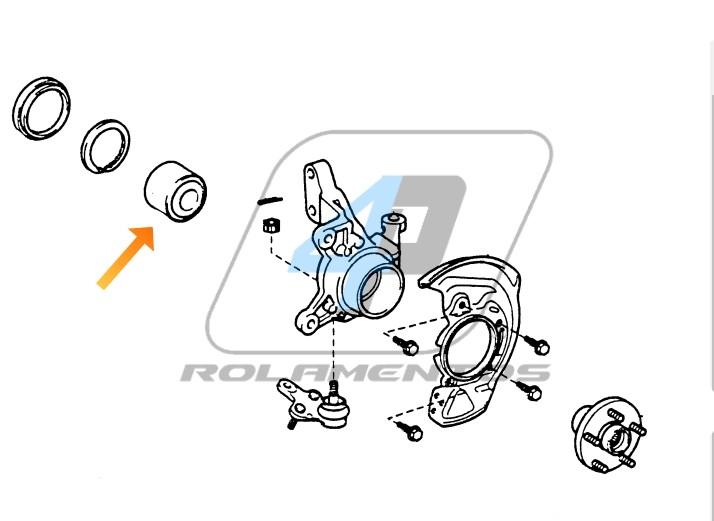 Rolamento de Roda Dianteira LEXUS RX300 1999 até 2003