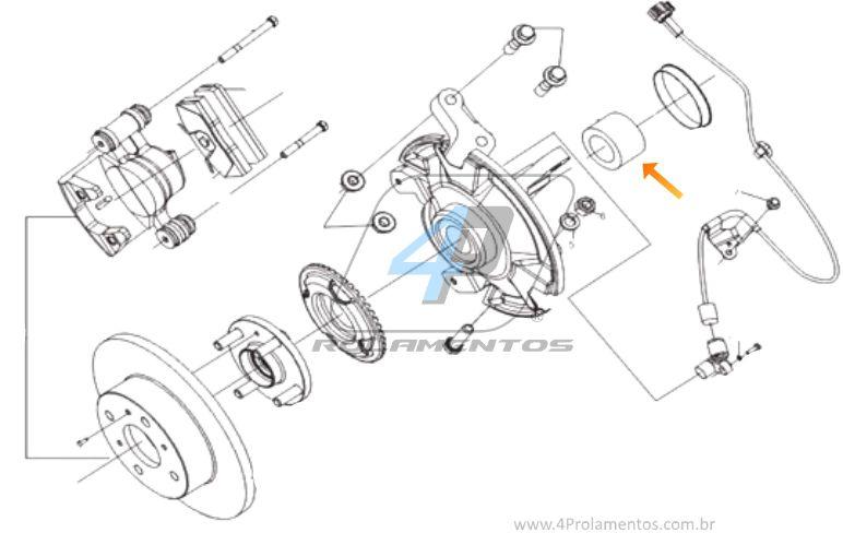 Rolamento de Roda Dianteira Lifan 620 2009 até 2017