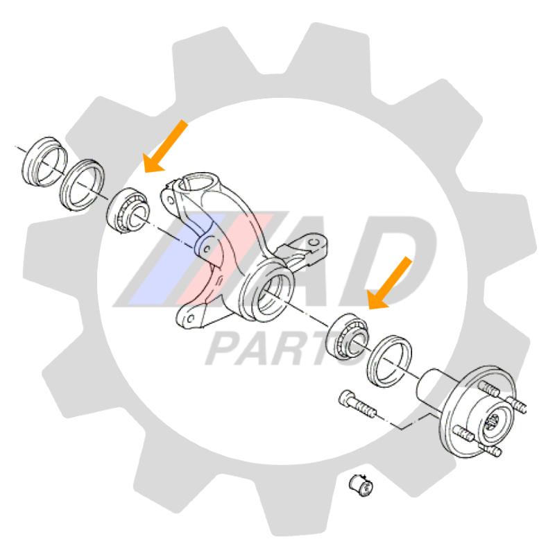 Rolamento de Roda dianteira MAHINDRA Scorpion 2008 até 2014