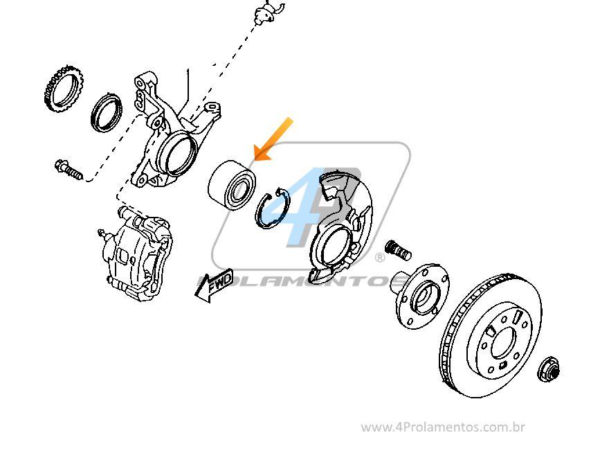 Rolamento de Roda Dianteira MAZDA 626 1993-2002