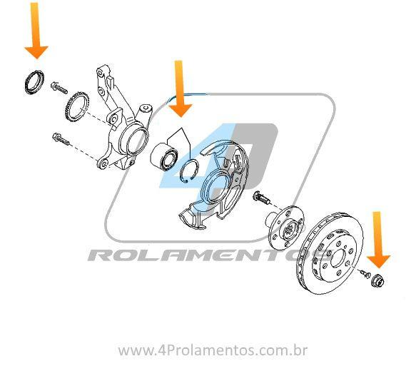 Rolamento de Roda Dianteira MAZDA MX-3 1993 até 1998