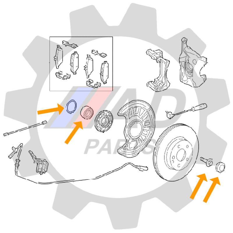 Rolamento de Roda Dianteira MERCEDES BENZ A250 2012 até 2018