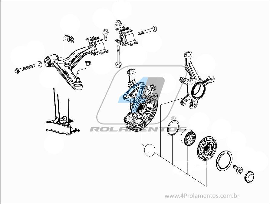 Rolamento de Roda Dianteira MERCEDES BENZ B200 2012 até 2018