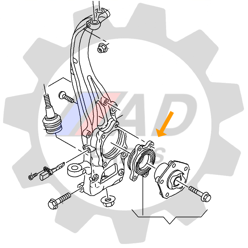 Rolamento de Roda Dianteira PORSCHE Macan 2014 até 2021