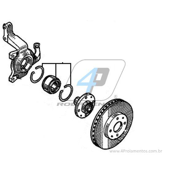 Rolamento de Roda Dianteira RENAULT Laguna 1997 até 2001, com ABS.