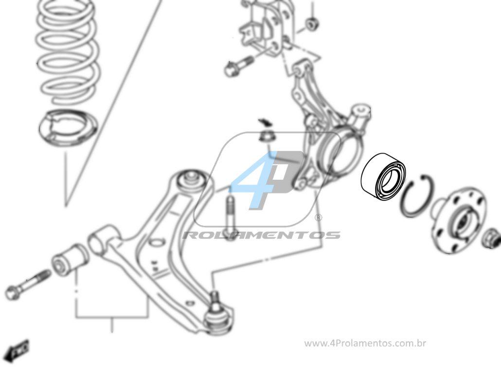 Rolamento de Roda Dianteira SUZUKI Swift 2006 até 2017
