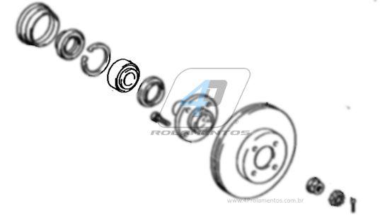 Rolamento de Roda Dianteira TOYOTA Corolla 1993 até 2001