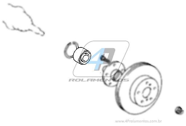 Rolamento de Roda Dianteira TOYOTA Corolla Fielder 2003 até 2007