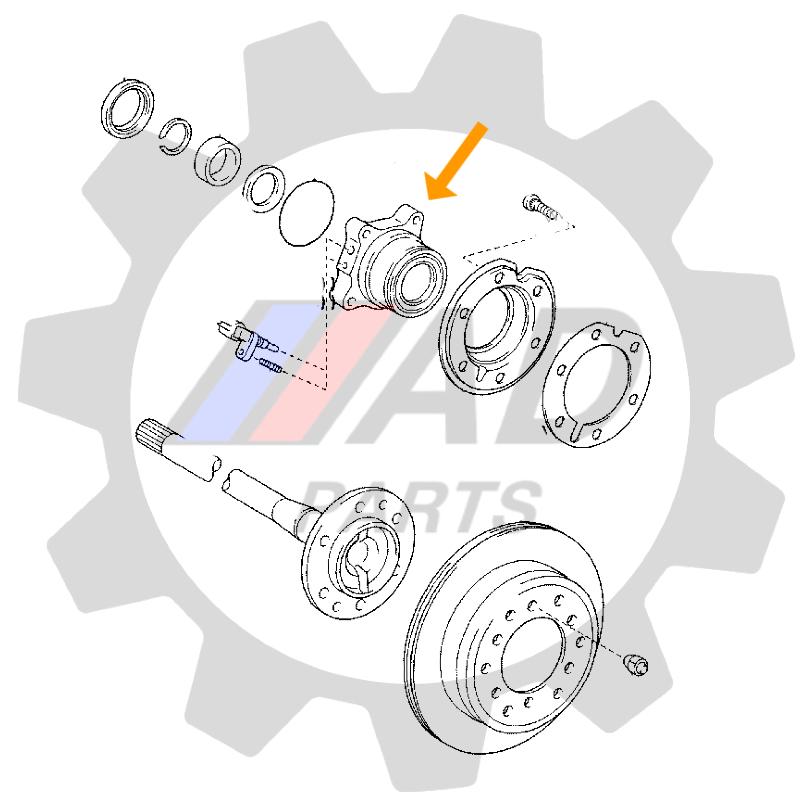 Rolamento de Roda Dianteira TOYOTA Tundra 2007 até 2015