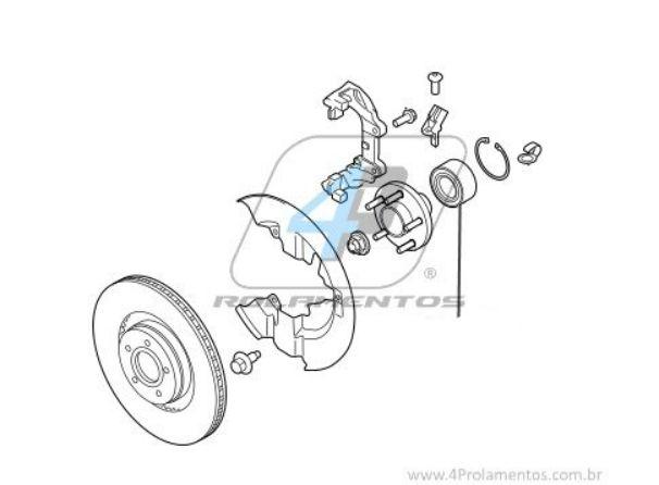 Rolamento de Roda Dianteira VOLVO S40 e V40 1997 até 2004