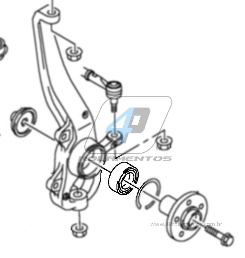 Rolamento de Roda Dianteira VW Amarok 2010 até 2019