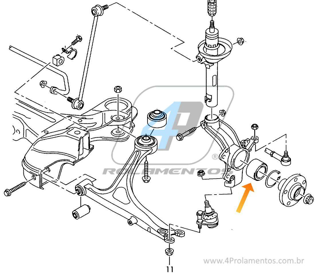 Rolamento de Roda Dianteira VW New Beetle 1999 até 2010