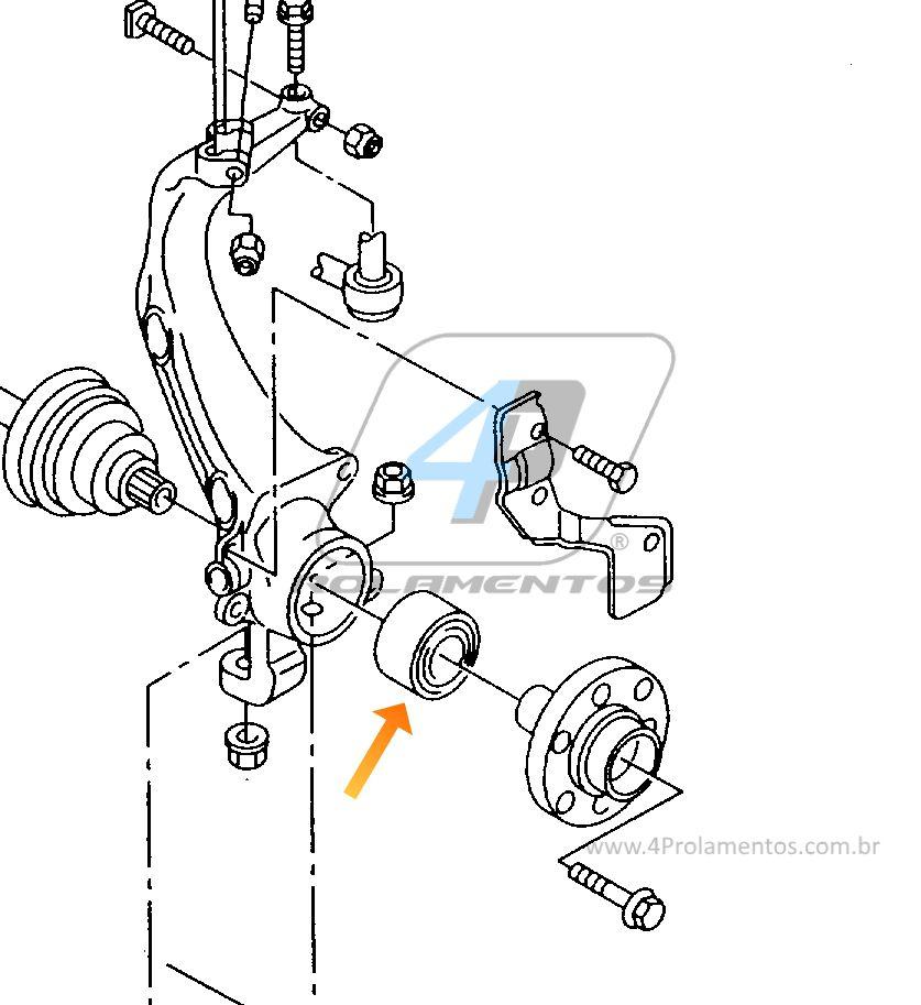 Rolamento de Roda Dianteira VW Passat 2000 até 2005, 75mm