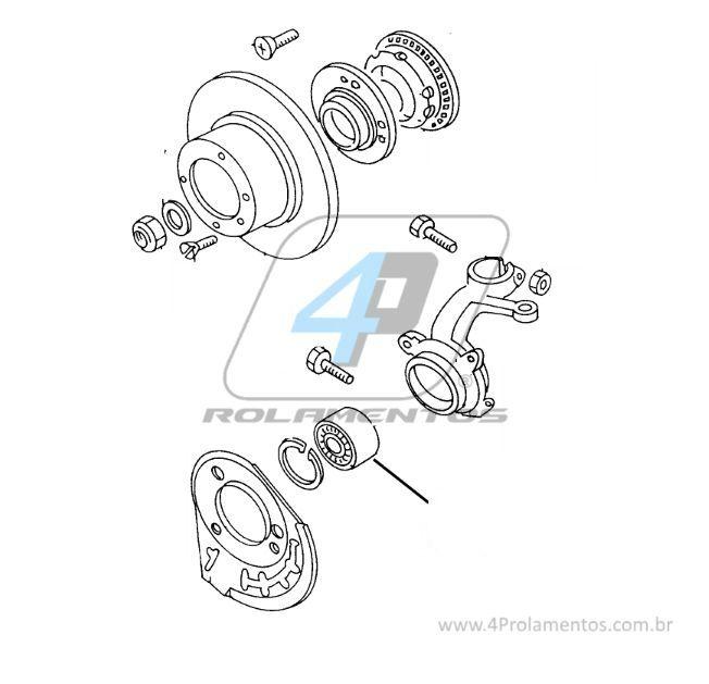 Rolamento de Roda Dianteira VW Polo Classic 1996 até 2002
