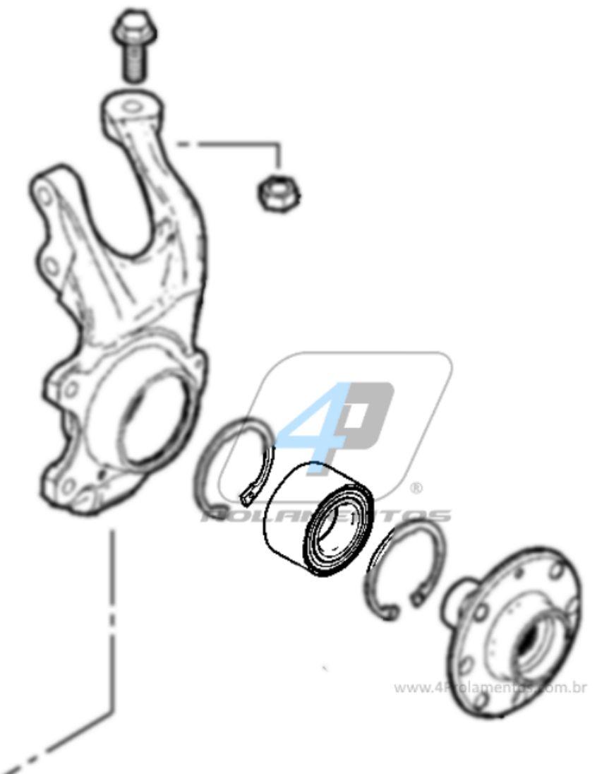 Rolamento de Roda Dianteiro Chevrolet Prisma 2006 até 2012