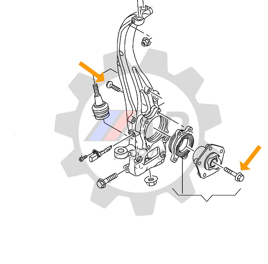 Rolamento de roda Lamborghini Urus 2018 até 2021, AWD