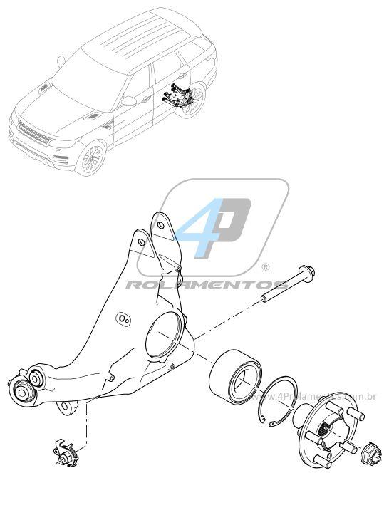 Rolamento de Roda LAND ROVER Discovery Sport 2014 até 2019