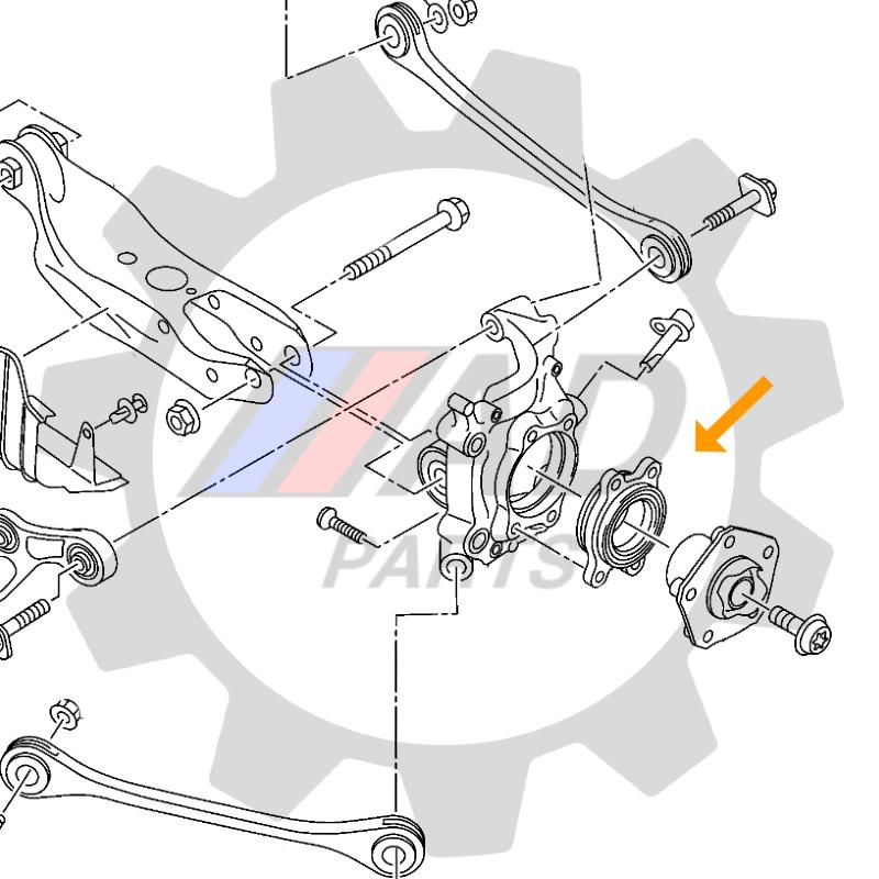 Rolamento de Roda Traseira AUDI A4 Quattro 2008 até 2015