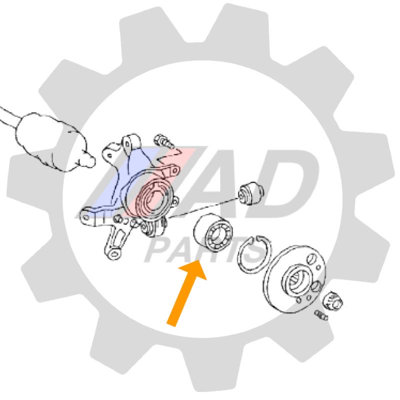 Rolamento de Roda Traseira BMW 328i 2012 até 2019, com ABS