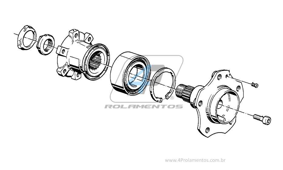 Rolamento de Roda Traseira BMW 540 1988 até 1995