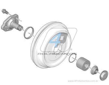 Rolamento de Roda Traseira CITROEN DS3 2009 até 2016, freio a tambor, com ABS