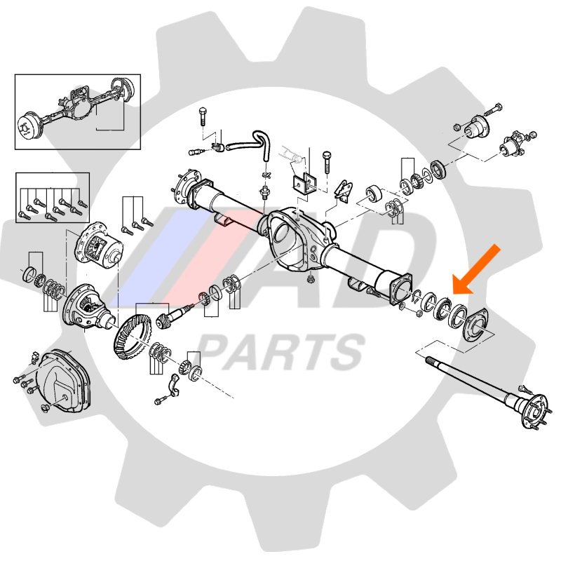Rolamento de roda traseira Ford F-75