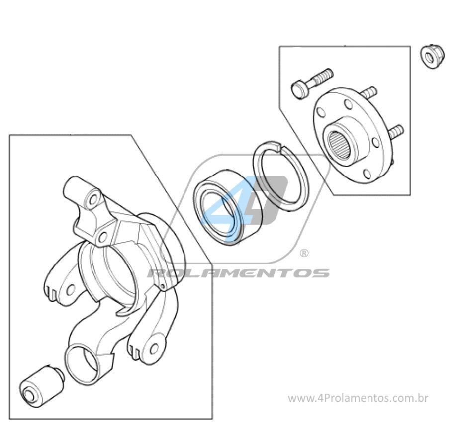 Rolamento de Roda traseira LAND ROVER Freelander 2002 até 2014 com ABS