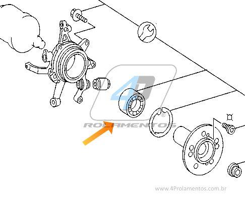 Rolamento de Roda Traseira MERCEDES BENZ CL 55 AMG, 2002 até 2006