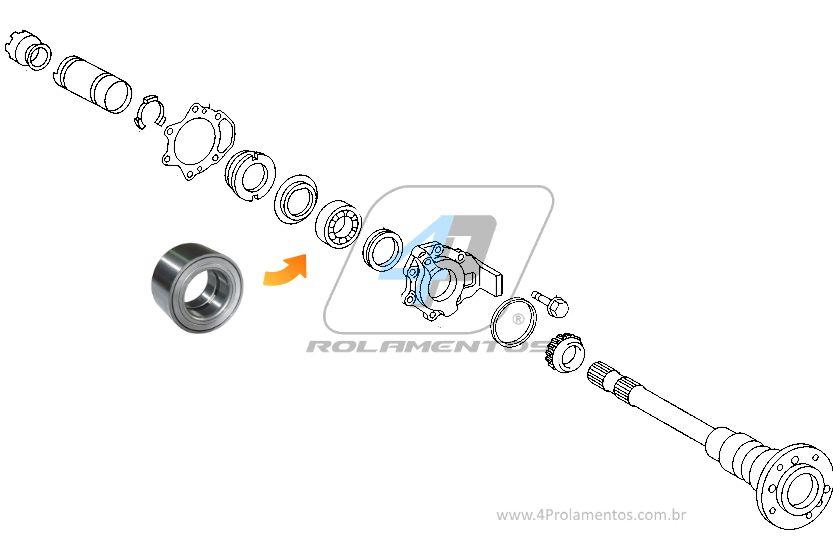 Rolamento de Roda Traseira MERCEDES BENZ G320, G350, G500, AMG