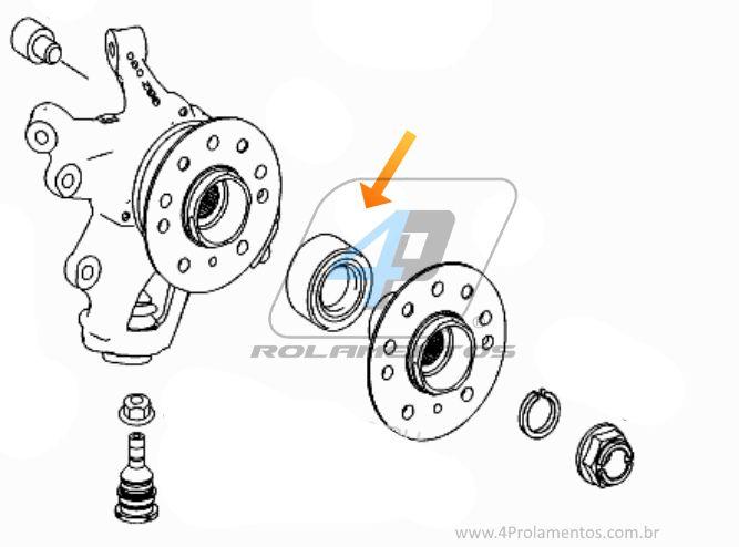 Rolamento de Roda Traseira MERCEDES BENZ GL350 2006 até 2012